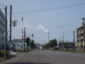 Industry in Tomakomai - the Oji Paper factory