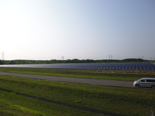Mega-solar east of Tomakomai