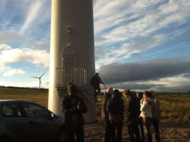 Turbines in the Aberdeenshire countryside.