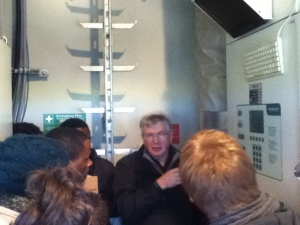 Brian McDougall from Udny Community Trust explains the inner workings of the turbine