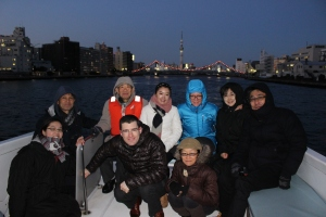 On the water in front of Tokyo Sky Tree