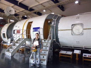 Standing in front of space station Mir during the 2014 Tomakomai scoping visit (don't ask...)
