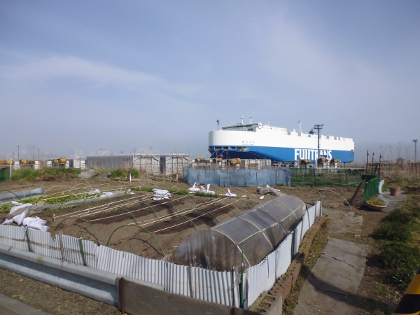 Allotment and a large cargo ship